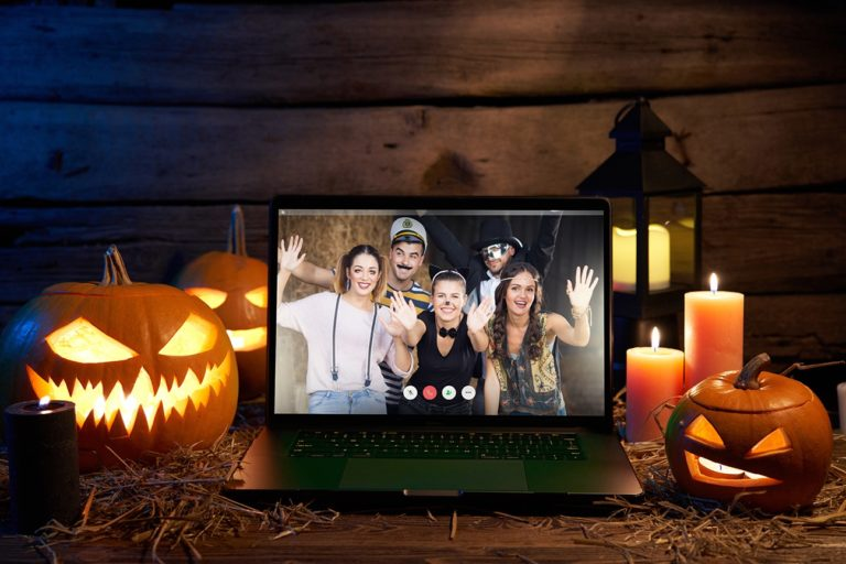 zoom call Halloween